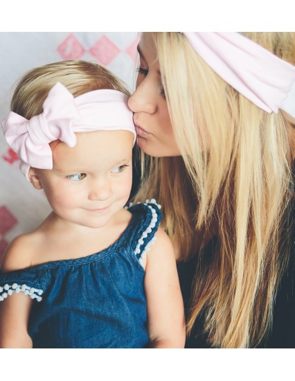 BABY BLUSH PINK Mom & Mini Headband