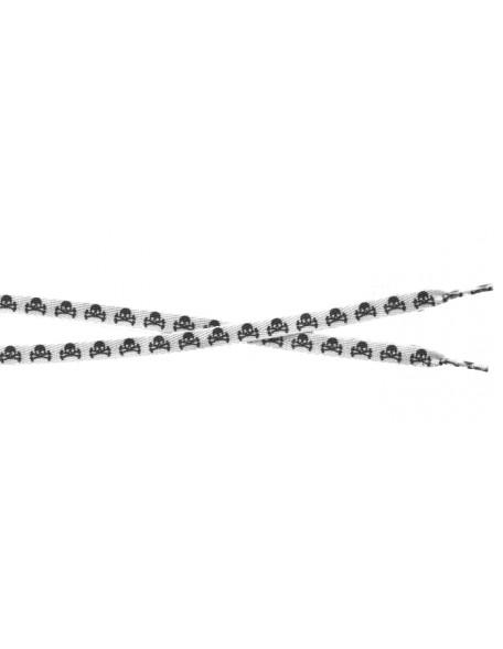 SKULL WHITE & BLACK Shoelace