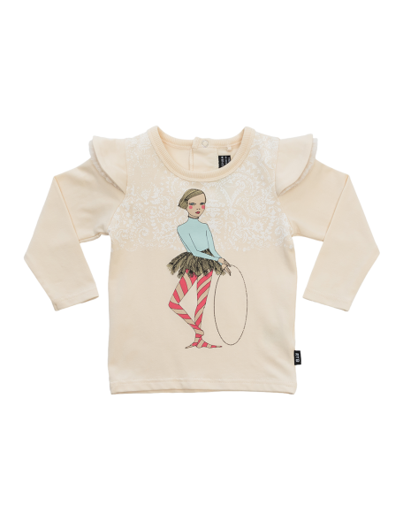 HULA GIRL BABY OATMEAL Long Sleeve T-Shirt