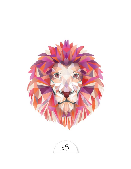 LION Temporary Tattoo