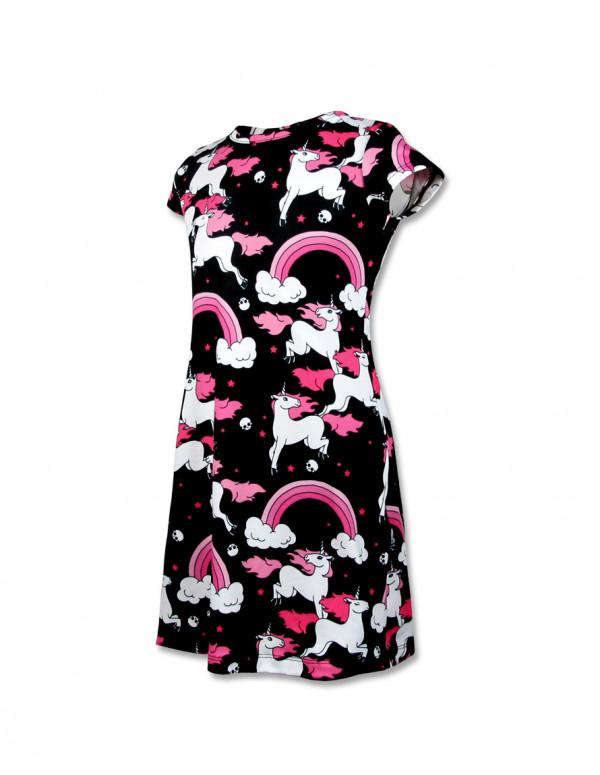 RAINBOW Kleid kurzarm