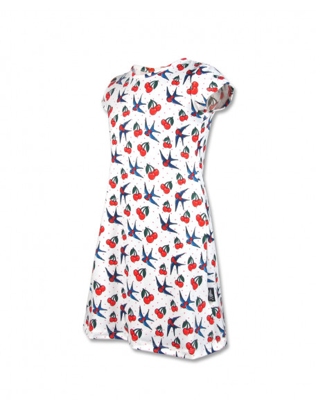 CHERRY BIRDS Kleid kurzarm