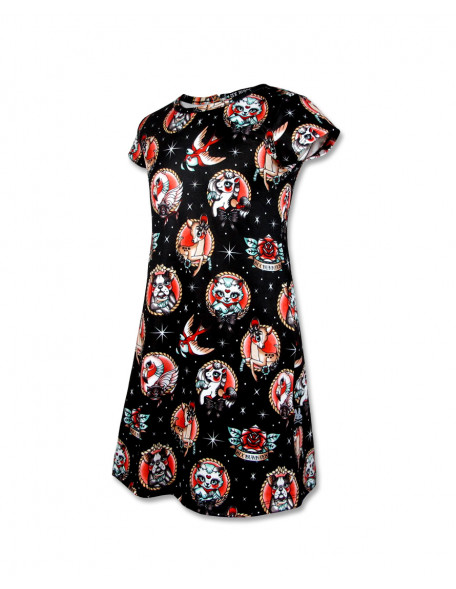 ANIMAL HOSPITAL Kleid kurzarm