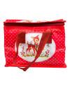 HEIDI WOODLAND CREATURES POLKA DOT Lunch Bag