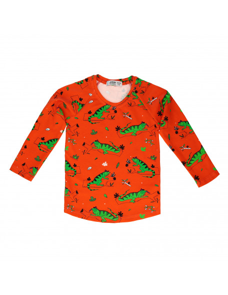 IGNACIO THE IGUANA RED Longsleeve t-shirt