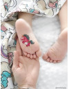RAINBOW UNICORNS Temporary Tattoo