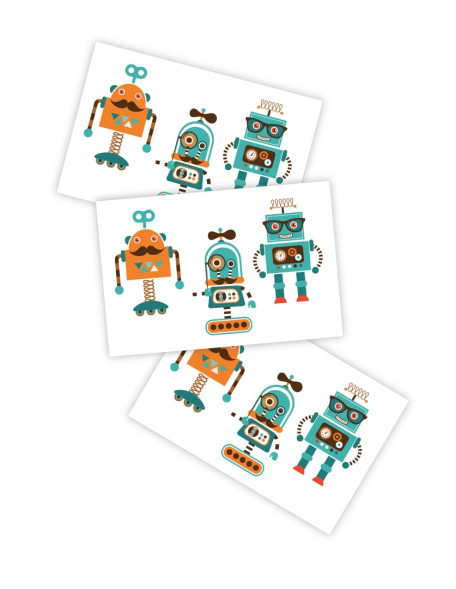HIPSTER ROBOTS Temporary Tattoo