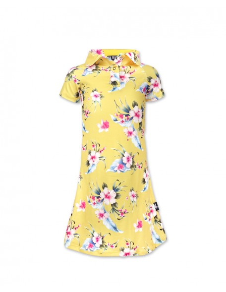 LUAU YELLOW Polo Dress