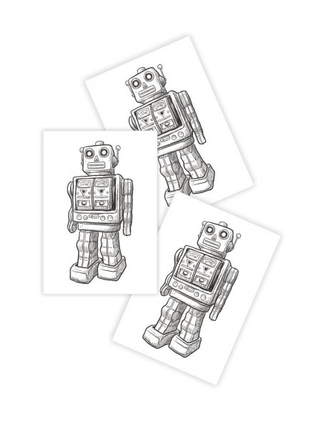 ROBOT Temporary Tattoo