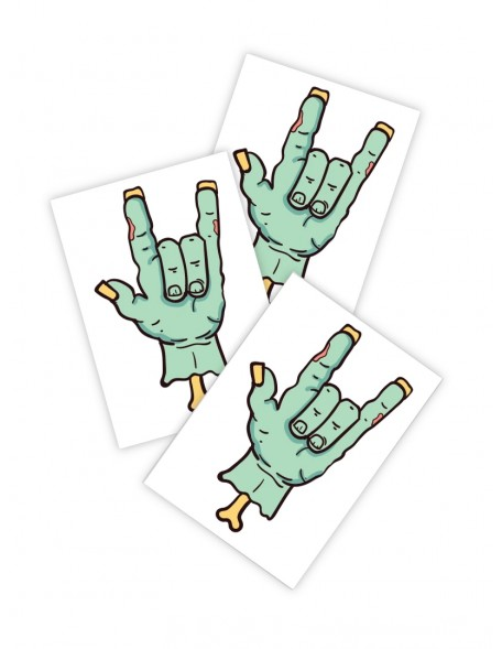 ZOMBI ROCK Temporary Tattoo