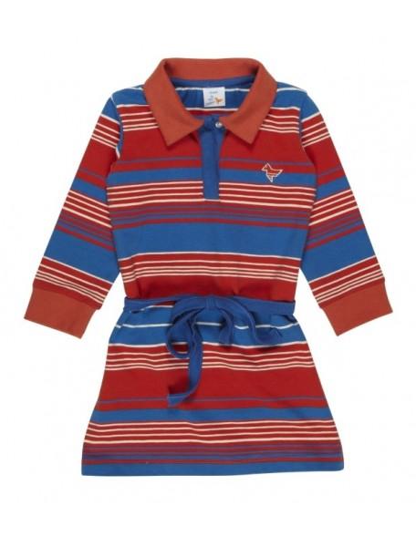 ROPOLIN blue red Kleid