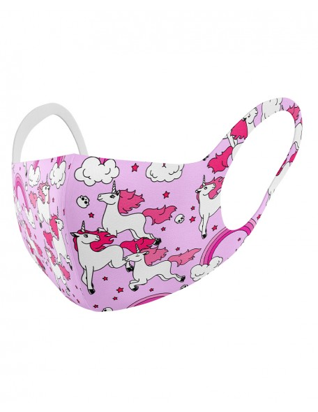 RAINBOWS PINK Childrens cloth mask