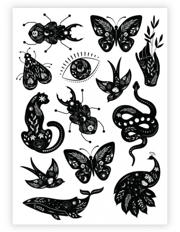 MYSTIC DREAMS Temporary Tattoo