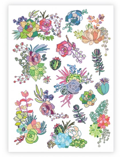 SUCCULENTS Temporary Tattoo