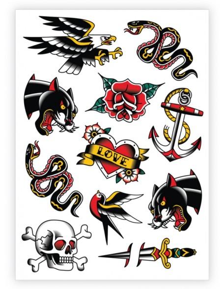 TRADITIONAL TATTOOS Temporary Tattoo