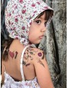 FLOWERS WITH HEART Temporary Tattoo