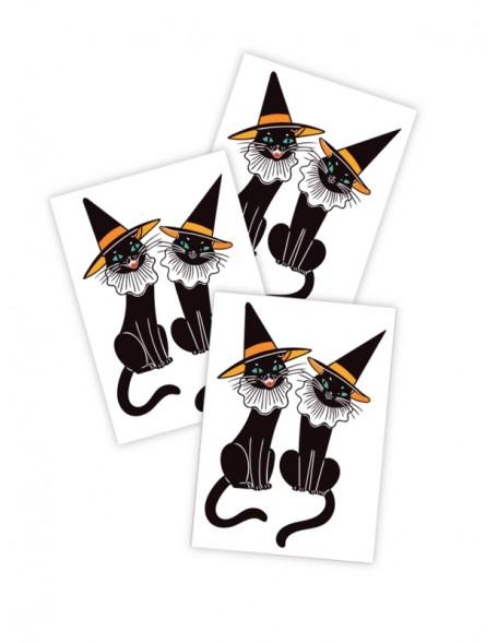 BLACK CATS Temporary Tattoo