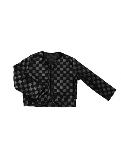 BLACK CHECK Cardigan